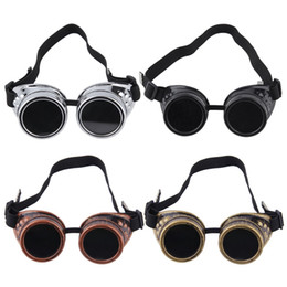 Steam Punk Gears Australia - Cyber Goggles Steam-punk Glasses Vintage Welding Punk Victorian Outdoor Sports Skiing Sunglasses Snow Sports Protective Gear