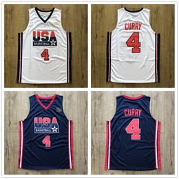 e21f4b45dc8 1992 Dream Team USA Stephen Curry  4 Retro Basketball Jersey Men s Stitched  Custom Any Number Name Jerseys