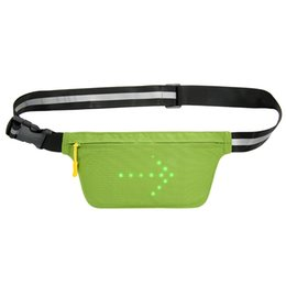 Chinese  LED Signal Light Lightweight USB Rechargeable Reflective Waist Belt Outdoor Sport Safety Bag Fanny Pack Bag for Cycling Running manufacturers
