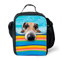 $enCountryForm.capitalKeyWord Australia - FORUDESIGNS Unique 3D Zoo Animals Dog Print Lunch Bags Cute Dogs Lunchbox for Kids Thermal Lunch Box Picnic Bag Insulated