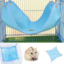 blue pet supplies NZ - Summer Pet Hammock Hanging Bed House For Hamster Mice Rat Rodents Cage Swing Toys Small Pet Supplies S m