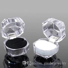 Wedding Display Cases Australia - Hot Jewelry Package Boxes Ring Holder Earring Display Box Acrylic Transparent Wedding Packaging Storage Box Cases