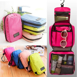 Ingrosso Designer-2019 donne lavano Doccia Travel Bag toilette sacchetto originale Zipper Tour Organizer Caso Kit Makeup Bag