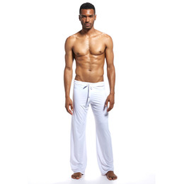 wide leg cotton yoga pants Canada - Songsanding New Men's Sexy Loose Lace Pants Comfortable Home Fitness Yoga Foreign Trade Leisure Wide-Foot Pajamas