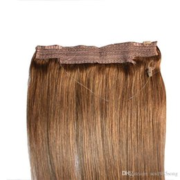 $enCountryForm.capitalKeyWord Australia - CE Certificated Brazilian Human Hair No Clips Halo Flip in Hair Extensions, 1pc 80G 100G Easy Fish Line Hair Weaving Wholesale Price