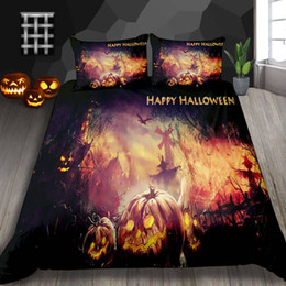 Plants for beds online shopping - Luxury Bedding Set Halloween Decoration For Home Fire Village Duvet Cover King Soft Queen Full Double Twin Single Bed Cover with Pillowcase
