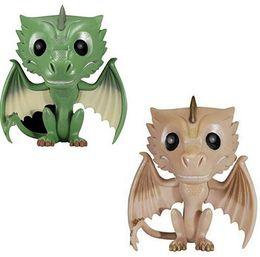 $enCountryForm.capitalKeyWord Australia - Pretty FUNKO POP Game of Thrones Rhaegal Viserion Dragon Vinyl Figure Doll PVC Action Figure Model Toys for Children