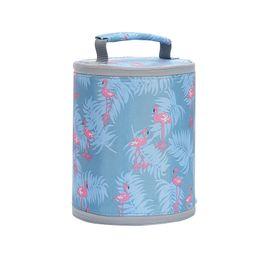 $enCountryForm.capitalKeyWord Australia - Flamingo Thermal Lunch Bag For Kid Women Men Oxford Large Cooler Box Toilet Box Packing Organizer Picnic Travel Accessories