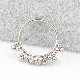 $enCountryForm.capitalKeyWord Australia - 50pcs 20gx10mm Surgical Steel Nose Ring Earring Septum Rings Ear Helix Cartilage Diath Nose Studs Body Piercing NEW Free Ship
