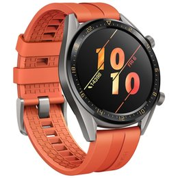 Smart Watches Nfc Australia - Original Huawei Watch GT Smart Watch With GPS NFC Heart Rate Monitor 5 ATM Waterproof Wristwatch Sport Tracker Watch For Android iPhone iOS