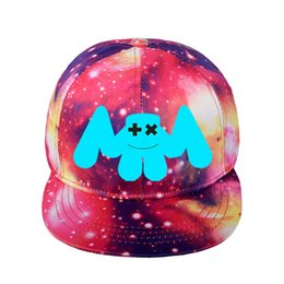 baseball cap styles Australia - New Style DJ Marshmellow Hat Starry Flat Caps Baseball cap Street Dance Marshmallow Smile face Novelty Autumn Hat For Kids Women&Men Couple