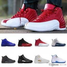 5cb45e622426 2018 High Quality 12 12s mens Basketabll Shoe French Blue Gym Red White  Royal Blue The Master Sneaker Size US 7-13