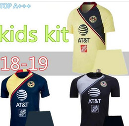 b95a87f7caf 2018 2019 kids Mexico Club America Soccer Jersey kit C.BLANCO home away  third D.BENEDETTO R.SAMBUEZA O.PERALTA boys kids Soccer Uniforms