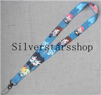 $enCountryForm.capitalKeyWord UK - Blue FAIRY TAIL LANYARD Happy Lucy Natsu Gray anime manga ID neck key chain strap 4V#01