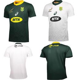 83e18099505f9 AAA + 2018 2019 Sudáfrica Camiseta de local y visitante Jersey Springboks  Selección sudafricana Camisetas de rugby Camisetas s-3xl
