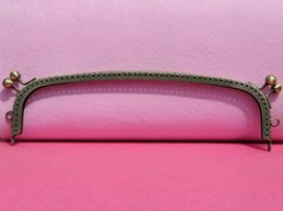 Shaped Handle Australia - 3pcs Long Shape DIY 25.5cm Double Head Metal Purse Frame Handle for Bag Sewing Craft Tailor Sewer