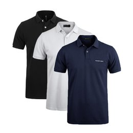 Male Pack Australia - Fashion-Pionner Camp 3 -Pack Hot Men Polo Shirt Classic Business &Casual Solid Male Polo Shirt Short Sleeve Breathable Polo Shirt