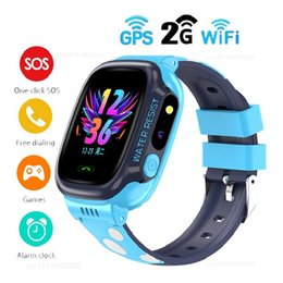 kids sos gps smart watch Australia - Y92 2G Kid Smart Watch GPS+WiFi Sim Kids Smart Watch Waterproof SOS Antil-lost Children 2G Smartwatch Camera Phone Watches