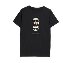 Smzy Karl Футболка Женская Лето без тегов Футболки Girl T Shirts Мода Смешно Печати Футболка Мальчик Белый Повседневная Женщины Дешевые Футболки Q190425 на Распродаже