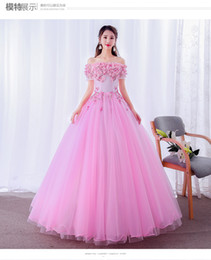victorian gothic princess ball gown Australia - freeship flower petals pink grey light blue Medieval dress Renaissance gown Sissi princess dress Victorian Gothic Marie Belle Ball