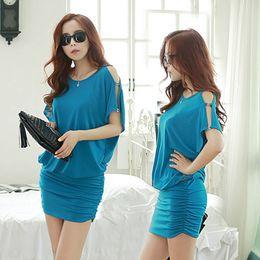 $enCountryForm.capitalKeyWord NZ - 2019 Summer New Korean Version The Great Size Female Fat Mm Dress Fledermaus Shirt Lose Bag Hip Dress Y19071001