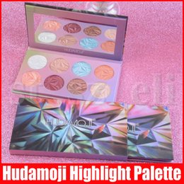 shimmer highlight makeup Canada - HUDAMOJI 8 Colors Highlighter Facial Bronzers Palette Glow Face Contour Shimmer Pressed Powder Base Highlight Highlighting Makeup