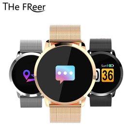 $enCountryForm.capitalKeyWord Australia - Q8 Smart Watch OLED Color Screen Smart Wristwatch Wearable Device Fashion Fitness Tracker Heart Rate Bluetooth Watches Men Women