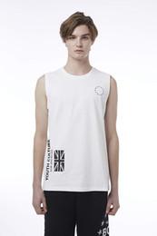 Boy London White Shirt Australia - BOY LONDON Summer casual fashion t-shirt Star Circle Detail Sleeveless BH2TV113AWH - White