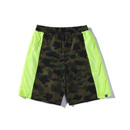 Japanese pants online shopping - 2020 Summer New Japanese Tide Brand Lover Camo Fluorescent Belt Shorts Pants Teenager Casual Hip Hop Shorts Pants