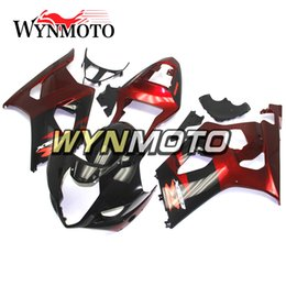 K3 Gsxr Fairings Australia - ABS Plastic Injection Motorcycle Fairings For Suzuki GSXR1000 K3 2003 2004 03 04 Black Red Kits Covers gsxr 1000 motorcycle cowlings hulls