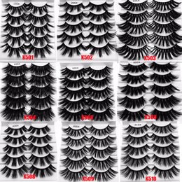 $enCountryForm.capitalKeyWord Australia - Thick Wispy Fluffy Natural Long Lashes 5 Pair 25mm 3D Mink Hair False Eyelashes Makeup Tools Full Soft Lashes Extension Tools