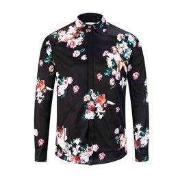 8333d183 2019 Wholesale Famous Brand design clothes men galaxy golden flower print  long sleeve 3d shirt printing Medusa Shirt