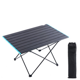 boat tables NZ - Portable Camping Side Tables with Aluminum Table Top Hard Topped Folding Table in a Bag for Picnic Camp Beach Boat Useful for Dining