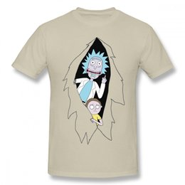 popular t shirt designs 2019 - 2019 Womens luxury designer t shirts Fashion Rick And Morty Cartoon T Shirt Man Popular Design Tee Shirt Round Neck Plus