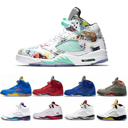Discount snow running shoes - 2019 Mens 5 Wings 5s JSP Laney Varsity Royal Basketball Shoes Man Trainers Black Metallic 3M Reflect Red Blue Suede des