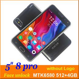 "Android Unlocked Dual Camera Australia - 5"" phone X 10 8 pro Quad Core 3G smart phone MTK6580 4GB Android 6.1 540*960 Dual SIM camera 5MP WCDMA gesture wake face unlock mobile 30pcs"