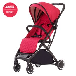 children portable strollers Canada - Lightweight stroller aluminum alloy frame stroller folding car baby portable cart child four-wheeled airplane