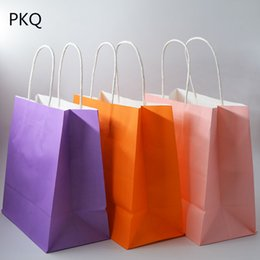 multifunction shopping bag UK - 20pcs DIY Multifunction paper bag with handles Festival gift bag High Quality shopping bags