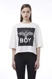 $enCountryForm.capitalKeyWord Australia - BOY LONDON Summer casual fashion breathable Square Blocking Crop Tshirt BH2TL406AWH White