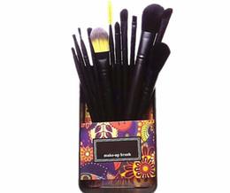Wholesale Makeup Brushes Free Shipping UK - Hot sale MP metal case professional makeup brushes set 12 piece Powder Foundation Eye Shadow Cosmetics Brush kit DHL free ship