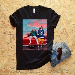 Großhandel J Cole Kendrick Lamar-T-Shirt Cole x Kung Foo Kenny-Shirt Dreamville-Shirt TDE-Shirt O-Neck-T-Shirts aus 100% Baumwolle