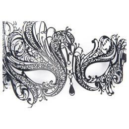 $enCountryForm.capitalKeyWord Australia - Metal Laser Cut Filigree Masquerade Venetian Party Mask Black