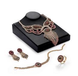 $enCountryForm.capitalKeyWord NZ - 2018 New Arriva Wedding Jewelry Set Luxury Fashion Multicolor Full Rhinestone 18K Gold Plated Alloy Tassels 4-Piece Set Wholesale JS545