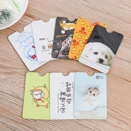 bus pack Australia - 4PCS Pack Cute Pattern RFID Anti-degaussing Bank Card Holder ID Case Bus Cover IC Aluminum Foil Bag Protector