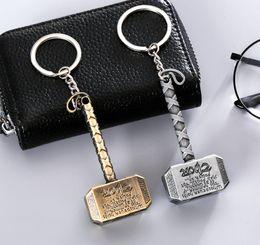 $enCountryForm.capitalKeyWord Australia - The Avengers Thor hammer key chain bell couple Keychain Car Key Holder Acrylic Bell Anime Key Chain Bag Pendant Accessories