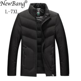 Duck Down Parka Men S Australia - NewBang Brand 5XL 6XL 7XL Plus Winter Down Jacket Man Duck Down Warm Thick Feather Parka For Men Outwear Large Size Coat