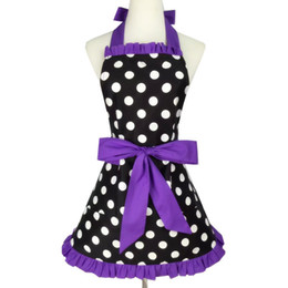 polka dots apron UK - 100PCS Vintage Sweetheart Red Bib 100% Cotton Apron Dress Christmas Fashion Flirty Retro Kitchen Women Polka Dot Apron Gift