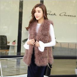 Discount furry vest women - Furry Women Coats 2019 Big Women Winter Sleeveless Faux Fur Leather Thick Coat Outerwear Vintage Furry Vest Jacket Femin