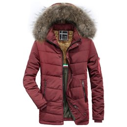 $enCountryForm.capitalKeyWord UK - Winter Coat Men Plus Velvet Padded Coats Mens Windbreaker Fur Collar Hooded Long Trench Overcoat Chaqueta Hombre Warm Jackets