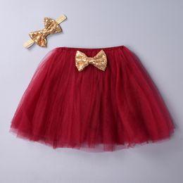$enCountryForm.capitalKeyWord Australia - 2 Pcs Girls Set Headband Baby Girls Tutu Skirt Kids 4 Layer Fluffy Soft Tulle Pettiskirt Skirt For Children Clothes 6 Colors